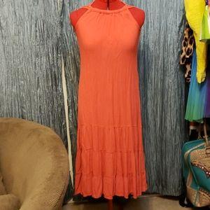 Peach coral dress